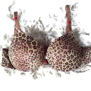 ⚡4/$20 Maidenform🌹 Leopard & Rose Padded Lift Bra